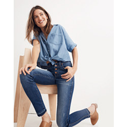"Taller 10"" High-Rise Skinny Jeans: Drop-Hem Edition"