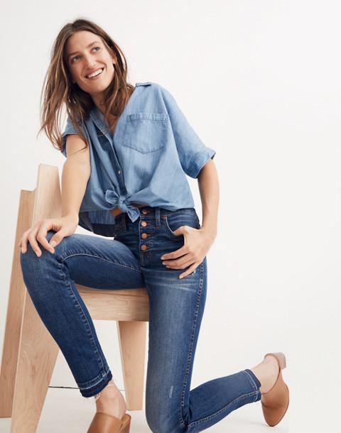 "Petite 10"" High-Rise Skinny Jeans: Drop-Hem Edition"