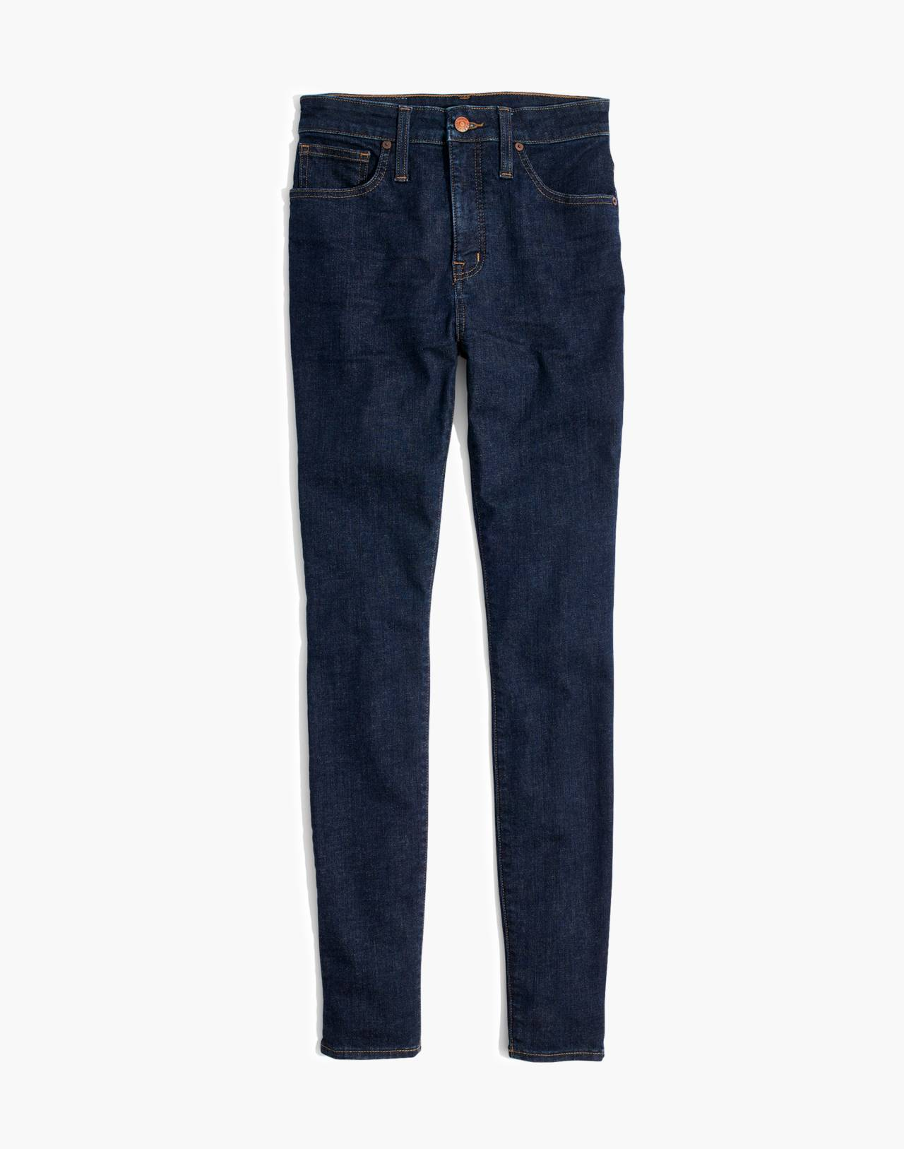 Curvy High-Rise Skinny Jeans in Lucille Wash in lucille wash image 4
