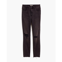 Short Curvy High-Rise Skinny Jeans in Black Sea