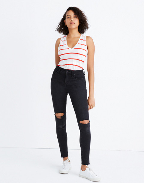 Taller Curvy High-Rise Skinny Jeans in Black Sea