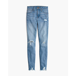 Taller Curvy High-Rise Skinny Jeans in Ontario: Distressed-Hem Edition