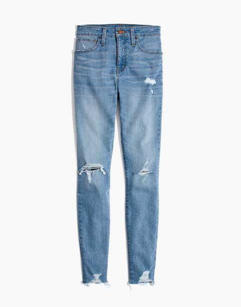 Curvy High-Rise Skinny Jeans in Ontario: Distressed-Hem Edition in ontario wash image 4