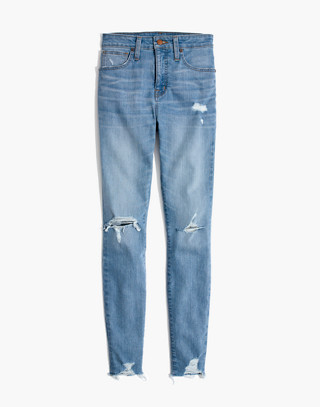Taller Curvy High-Rise Skinny Jeans in Ontario: Distressed-Hem Edition in ontario wash image 4