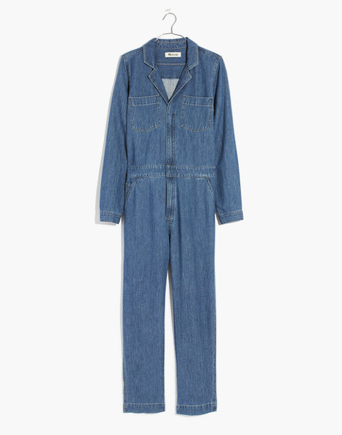 Denim Coverall Jumpsuit in phair wash image 4