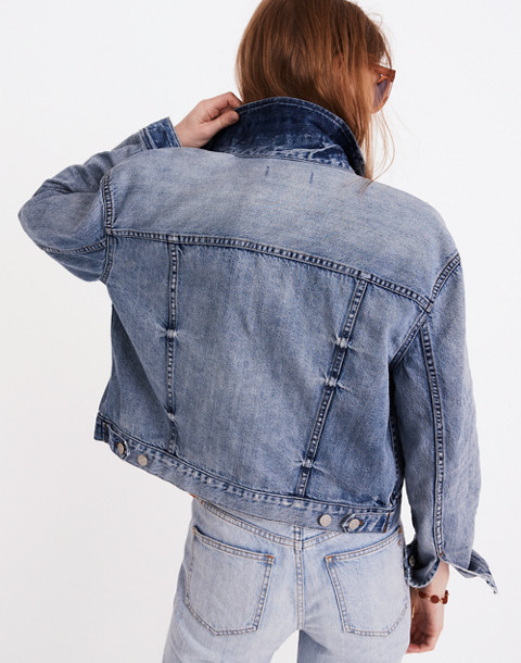 The Boxy-Crop Jean Jacket in Woodcourt Wash in woodcourt wash image 2