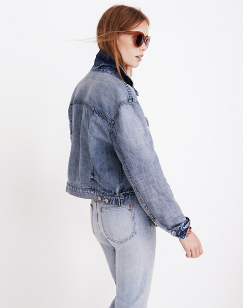The Boxy-Crop Jean Jacket in Woodcourt Wash in woodcourt wash image 3
