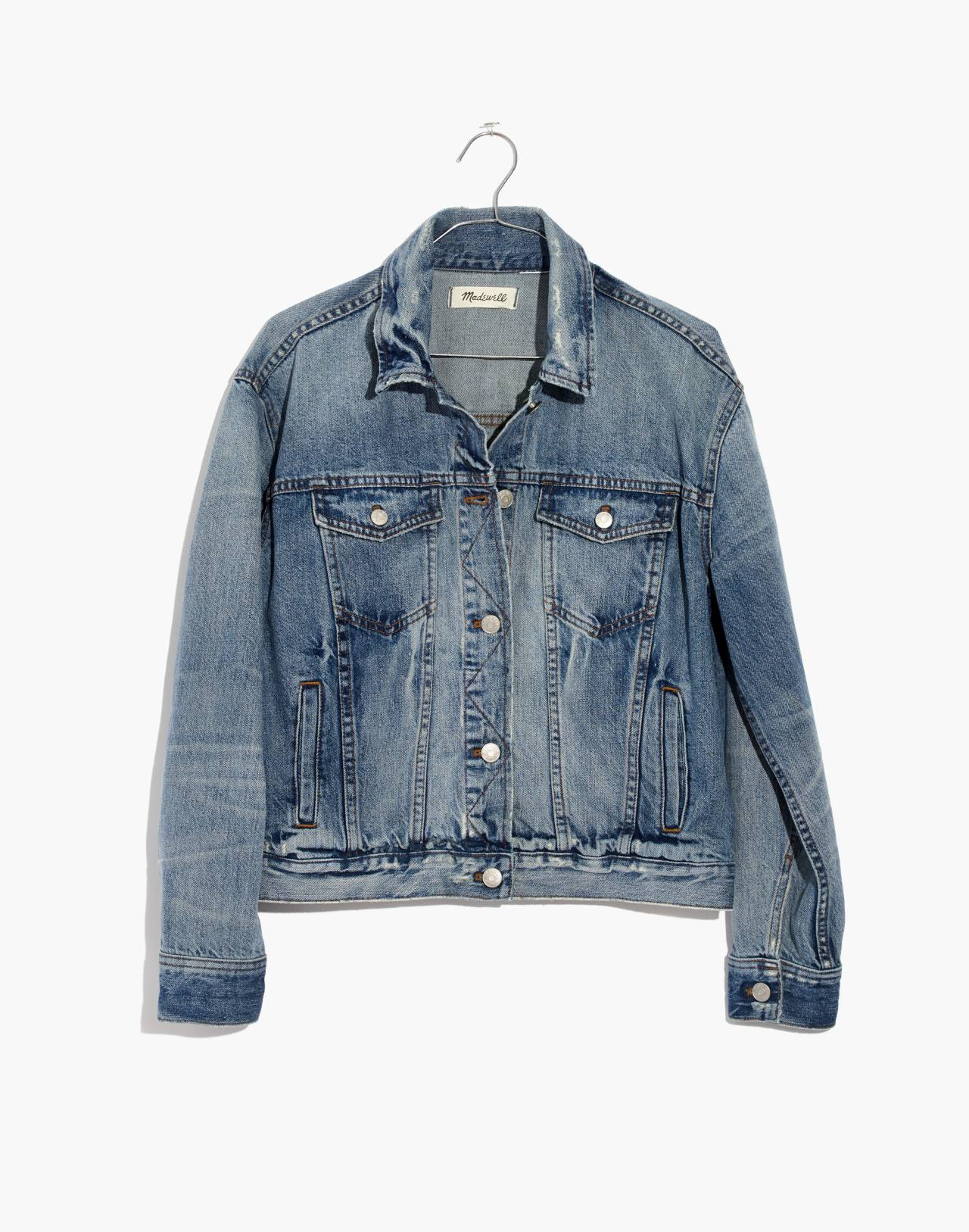 The Boxy-Crop Jean Jacket in Woodcourt Wash in woodcourt wash image 4