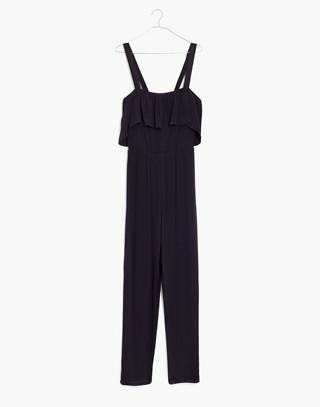Apron Ruffle Jumpsuit in true black image 4