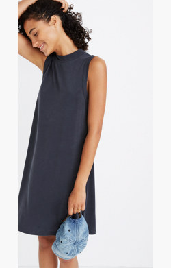 Sandwashed Mockneck Tank Dress