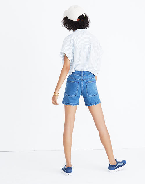 983a7670fa11d High-Rise Denim Shorts: Patch Pocket Edition in null image 2