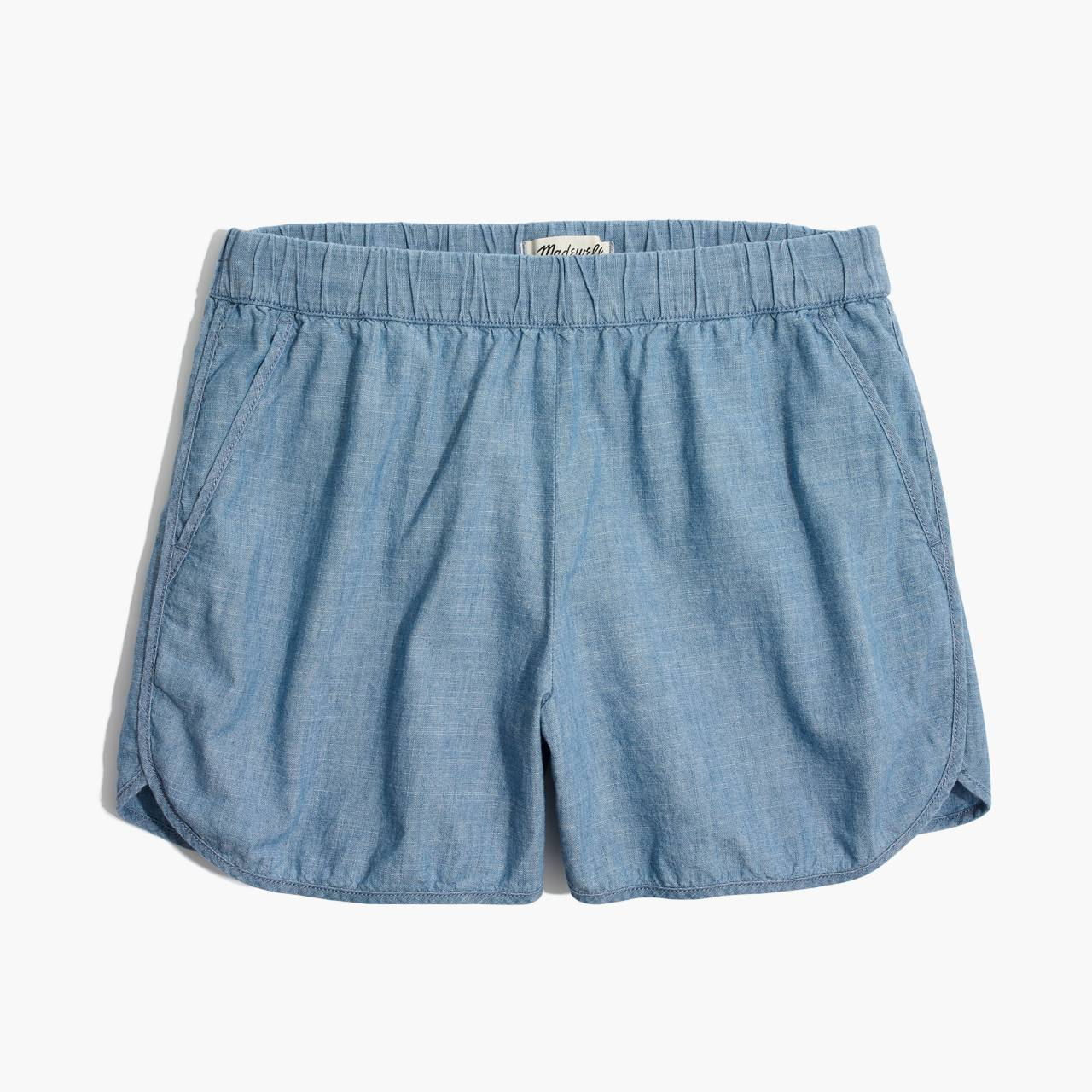 Chambray Pull-On Shorts in aloha wash image 4