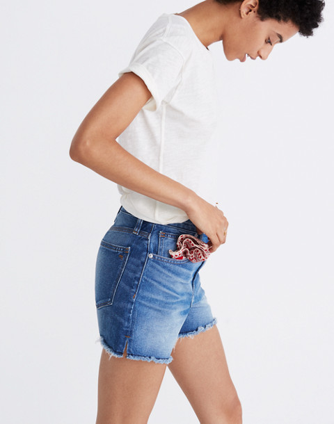 The Perfect Jean Short in Butler Wash in butler wash image 3