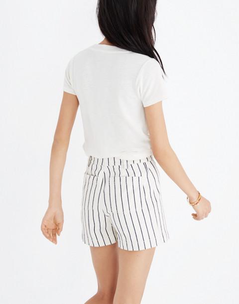 Emmett Button-Front Shorts in Stripe in canvas image 2
