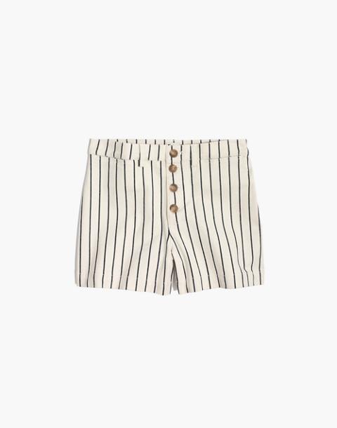 Emmett Button-Front Shorts in Stripe in canvas image 4