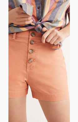 Emmett Button-Front Shorts