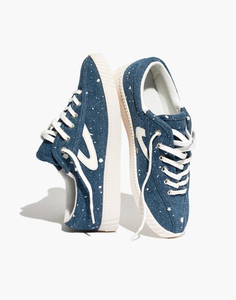 Tretorn® Nylite Plus Sneakers in Paint-Spattered Denim