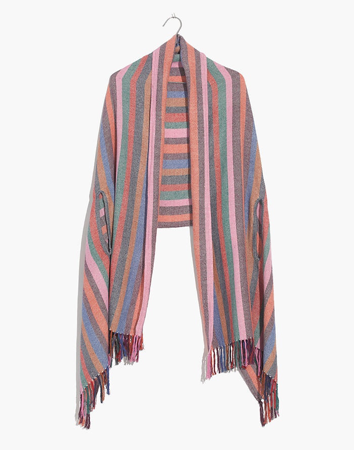 Rainbow Stripe Cape Scarf