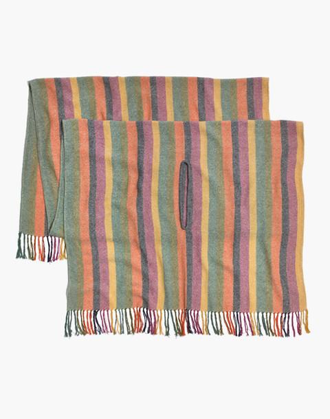 Rainbow Stripe Cape Scarf in multi stripe image 2