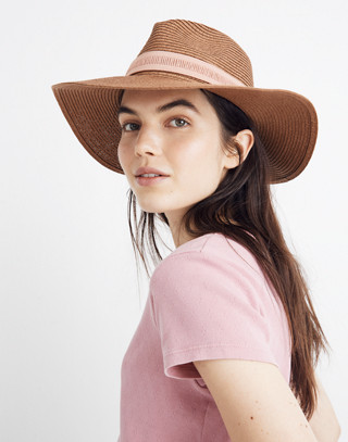 Packable Mesa Straw Hat in burnt clay image 2