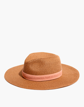 Packable Mesa Straw Hat in burnt clay image 1
