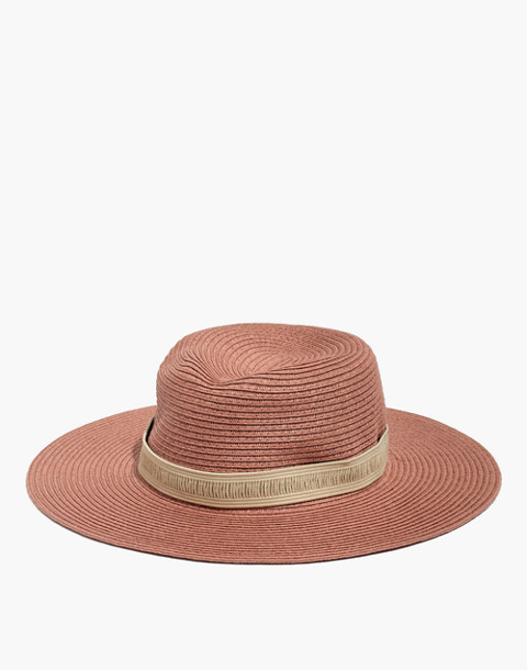f958958c51d Packable Mesa Straw Hat in dried coral straw image 1