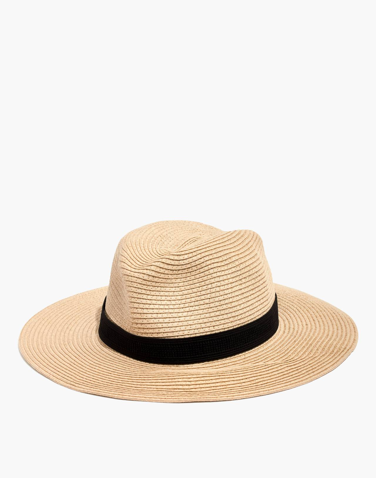 Packable Mesa Straw Hat in natural straw image 1