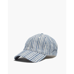 Baseball Cap in Textural Stripe