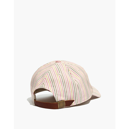 Baseball Cap In Pink Multistripe by Madewell