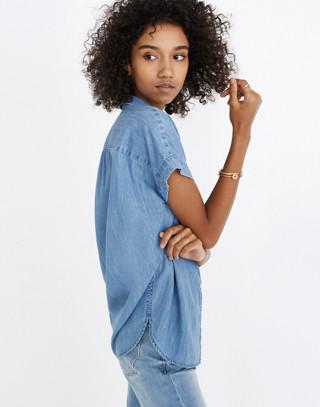 Central Shirt in Roberta Indigo in roberta wash image 2