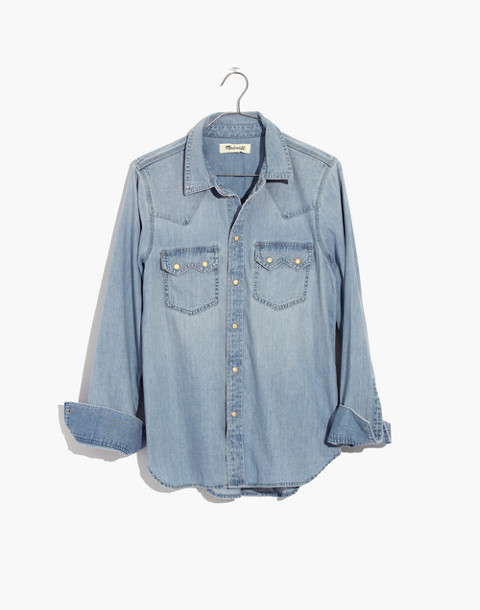 Denim Western Shirt in longbourn image 4