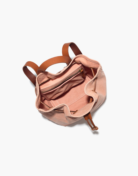 The Canvas Somerset Backpack in antique coral image 2