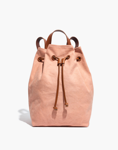 The Canvas Somerset Backpack in antique coral image 1