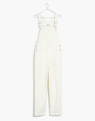 Straight-Leg Overalls in Tile White