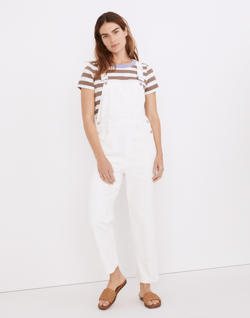 Straight-Leg Overalls in Tile White