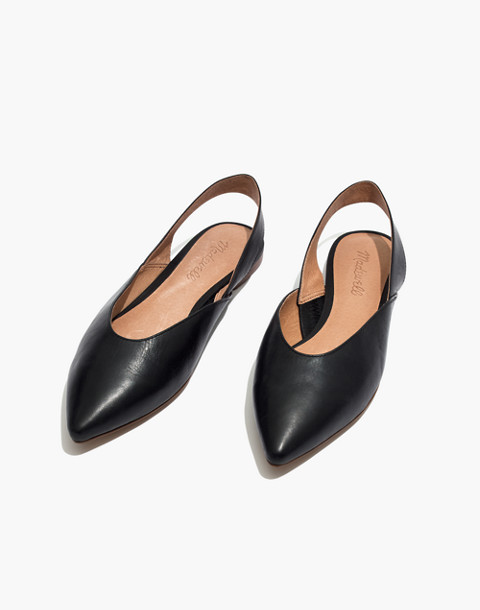 The Ava Slingback Flat in Leather