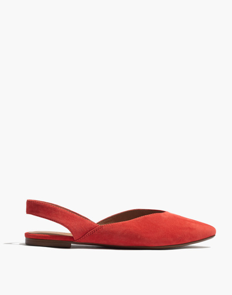 The Ava Slingback Flat in Suede