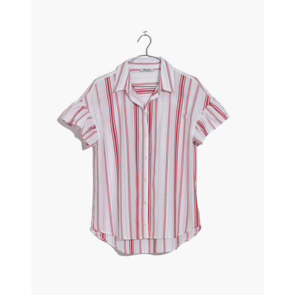 美德威尔Madewell Central Ruffle-Sleeve衬衣Carey条纹