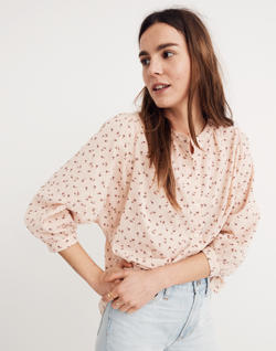 Peasant Top in Delicate Floral