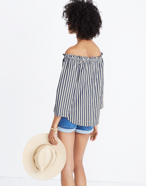 Shimmer Stripe Off-the-Shoulder Top in amelia stripe image 2