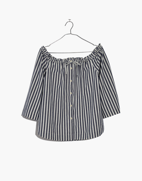 Shimmer Stripe Off-the-Shoulder Top in amelia stripe image 4