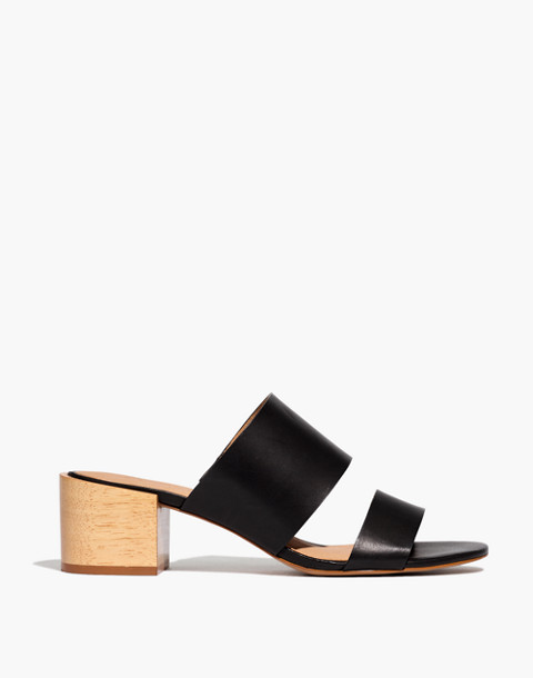 The Kiera Mule Sandal in true black image 2