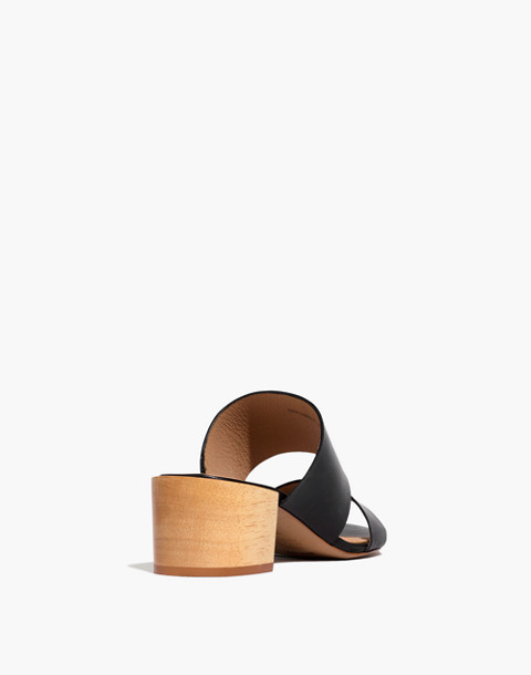 The Kiera Mule Sandal in true black image 3