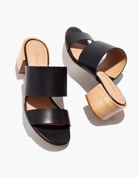 The Kiera Mule Sandal in true black image 1