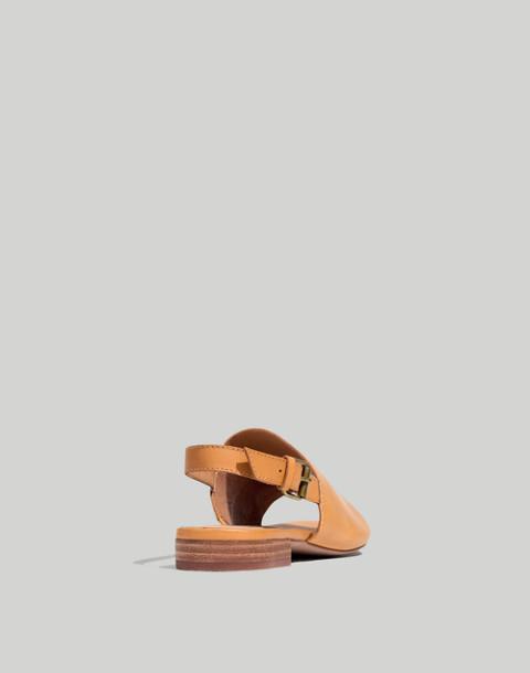 The Noelle Slingback Sandal in Leather in desert camel image 4