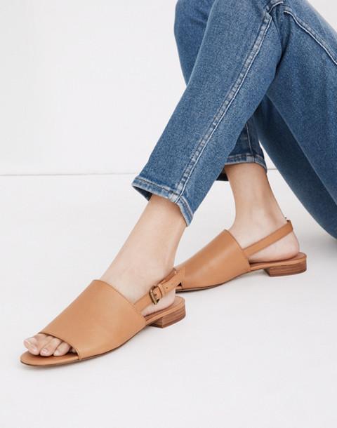The Noelle Slingback Sandal in Leather in desert camel image 2
