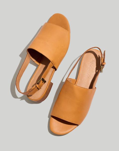 The Noelle Slingback Sandal in Leather in desert camel image 1