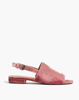 The Noelle Slingback Sandal in Velvet in sparkling rose image 3
