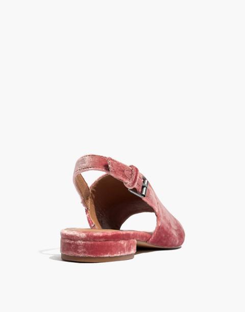 The Noelle Slingback Sandal in Velvet in sparkling rose image 4