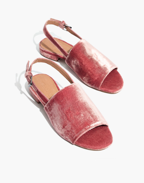 The Noelle Slingback Sandal in Velvet in sparkling rose image 1